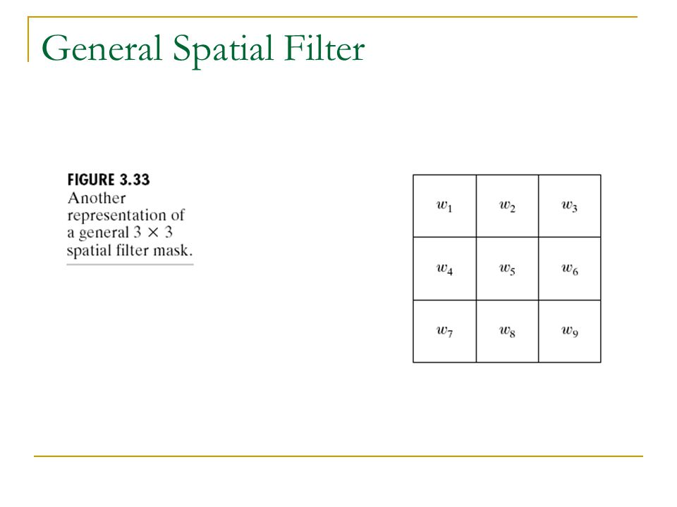 General Spatial Filter