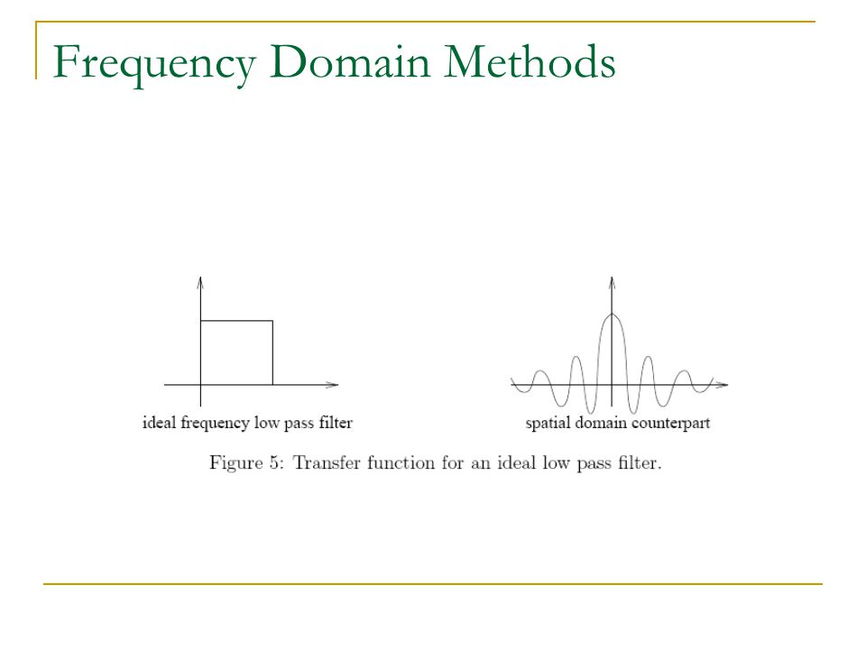 Frequency Domain Methods