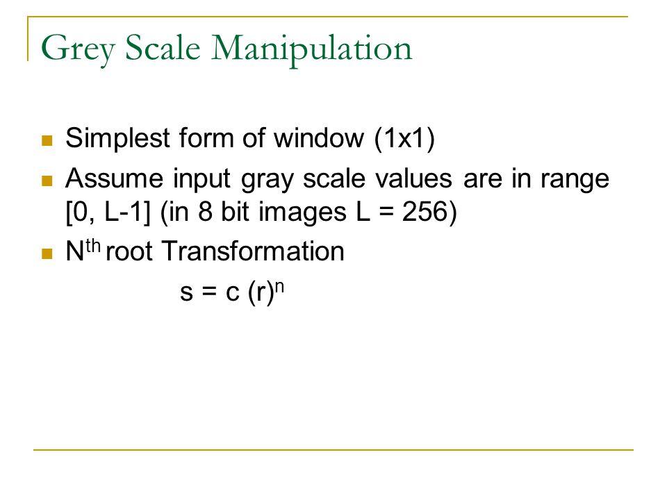 Grey Scale Manipulation