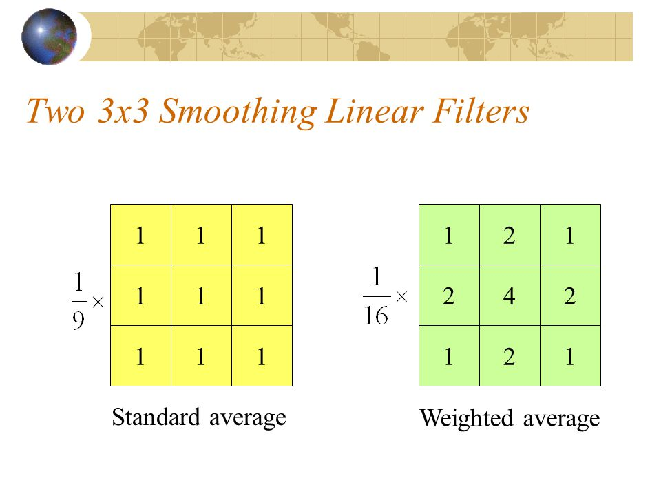 Two 3x3 Smoothing Linear Filters