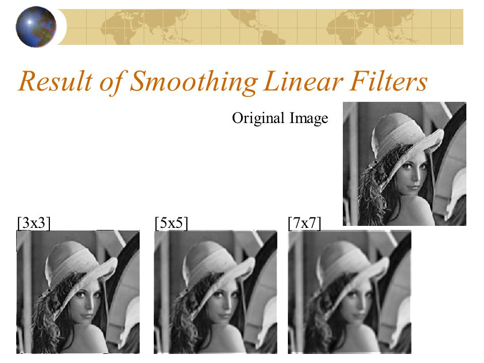 Result of Smoothing Linear Filters