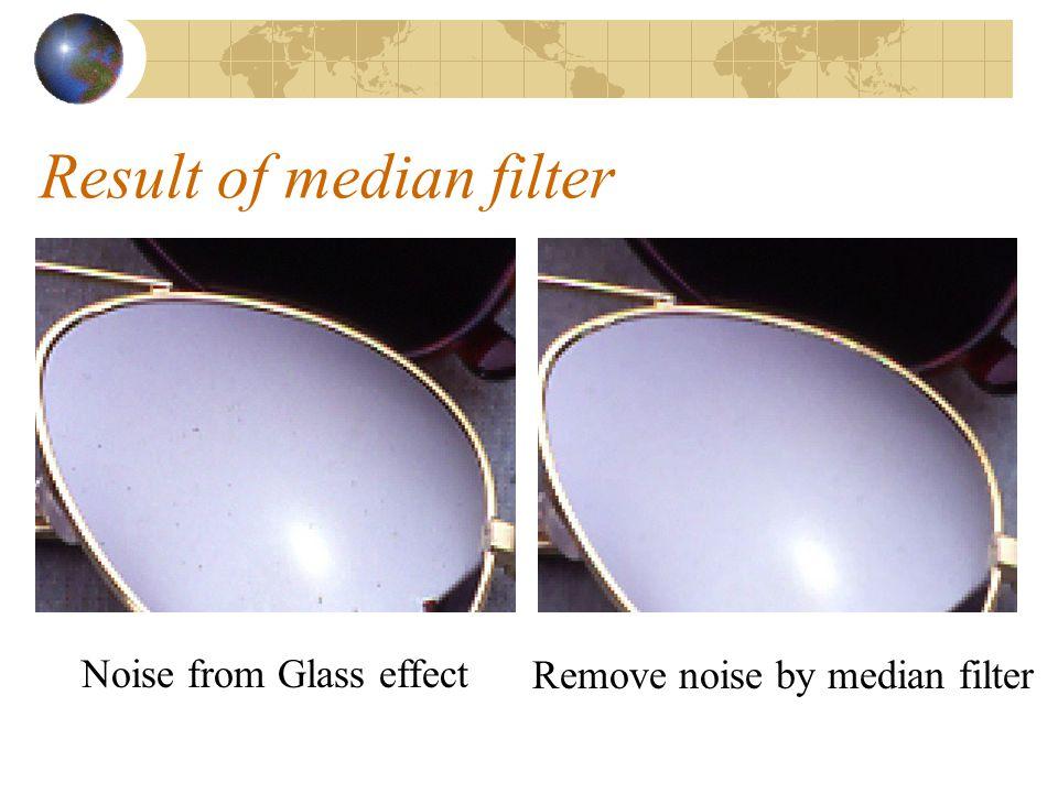 Result of median filter