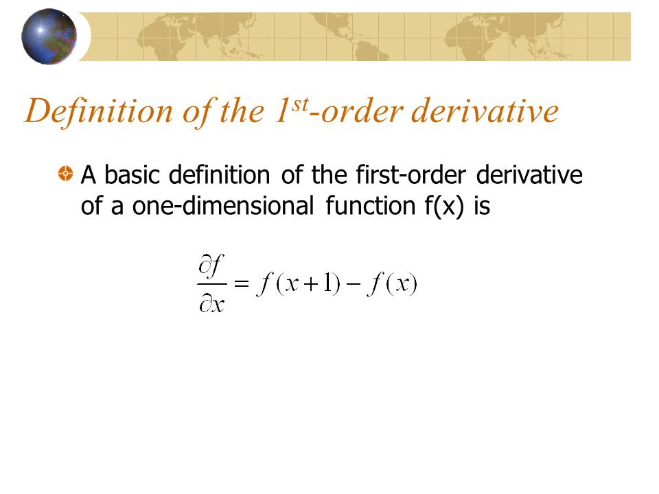 Definition of the 1st-order derivative