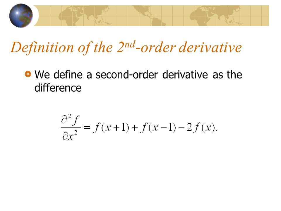 Definition of the 2nd-order derivative