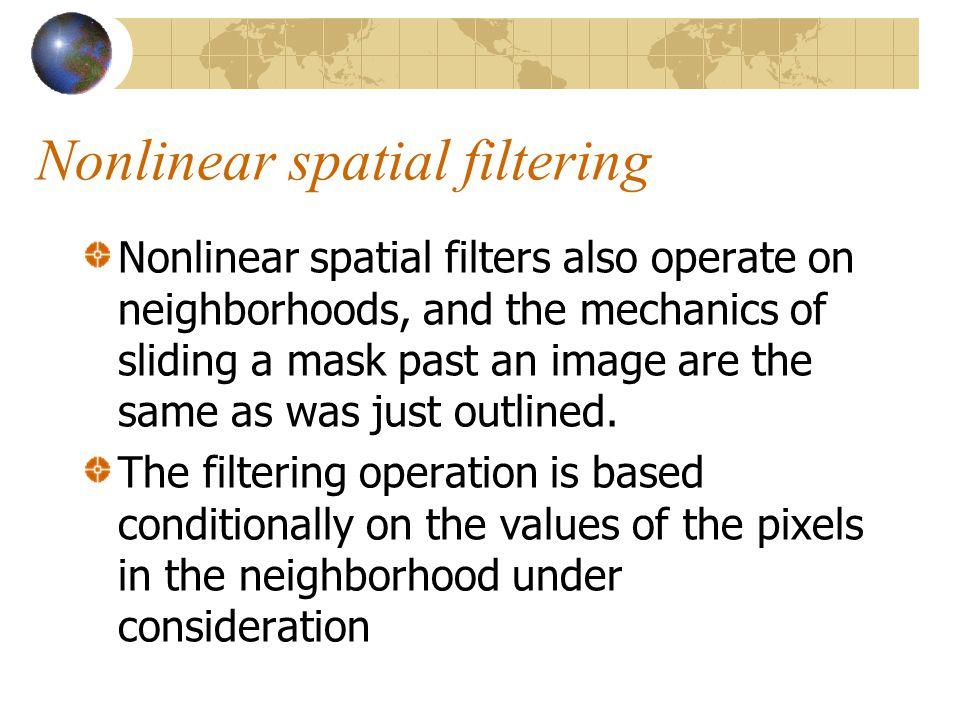 Nonlinear spatial filtering