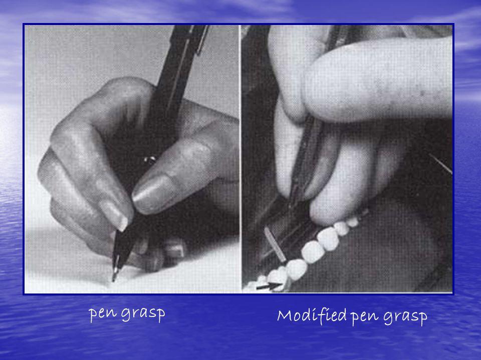 pen grasp Modified pen grasp