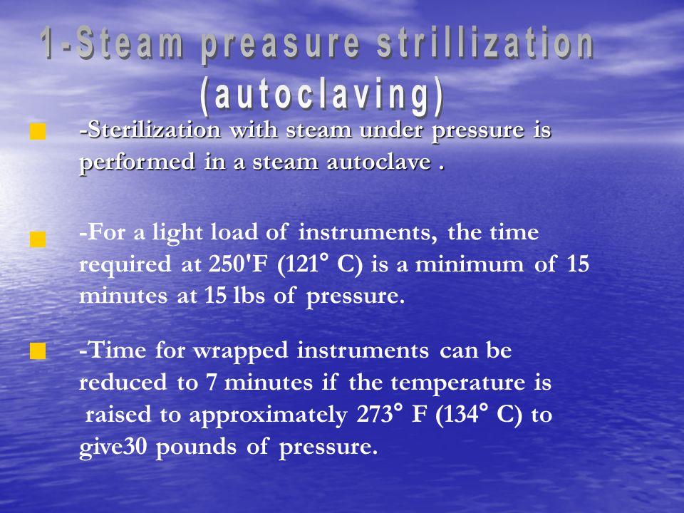 1-Steam preasure strillization