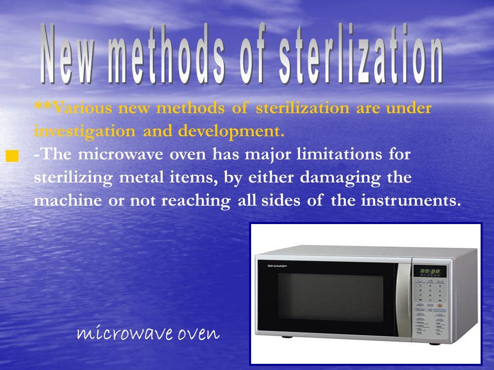 New methods of sterlization