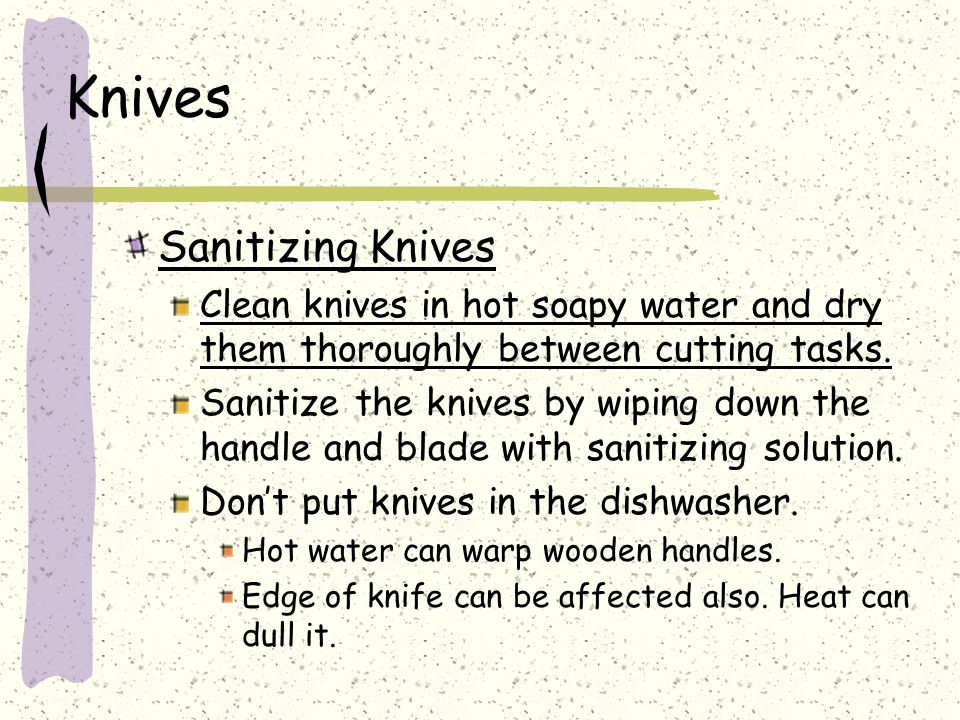 Knives Sanitizing Knives