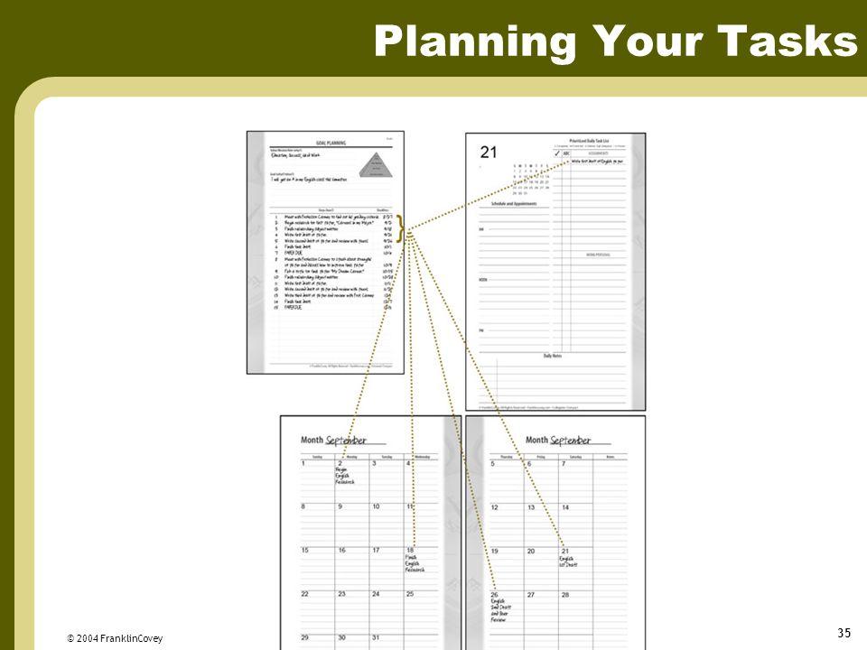 Planning Your Tasks © 2004 FranklinCovey
