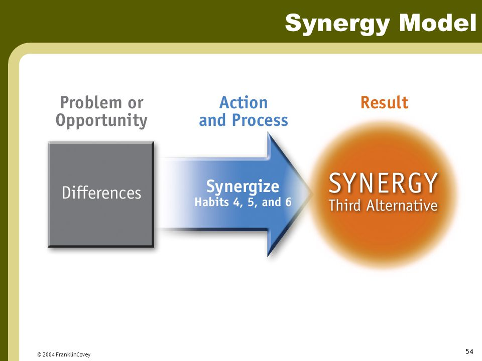 Synergy Model © 2004 FranklinCovey