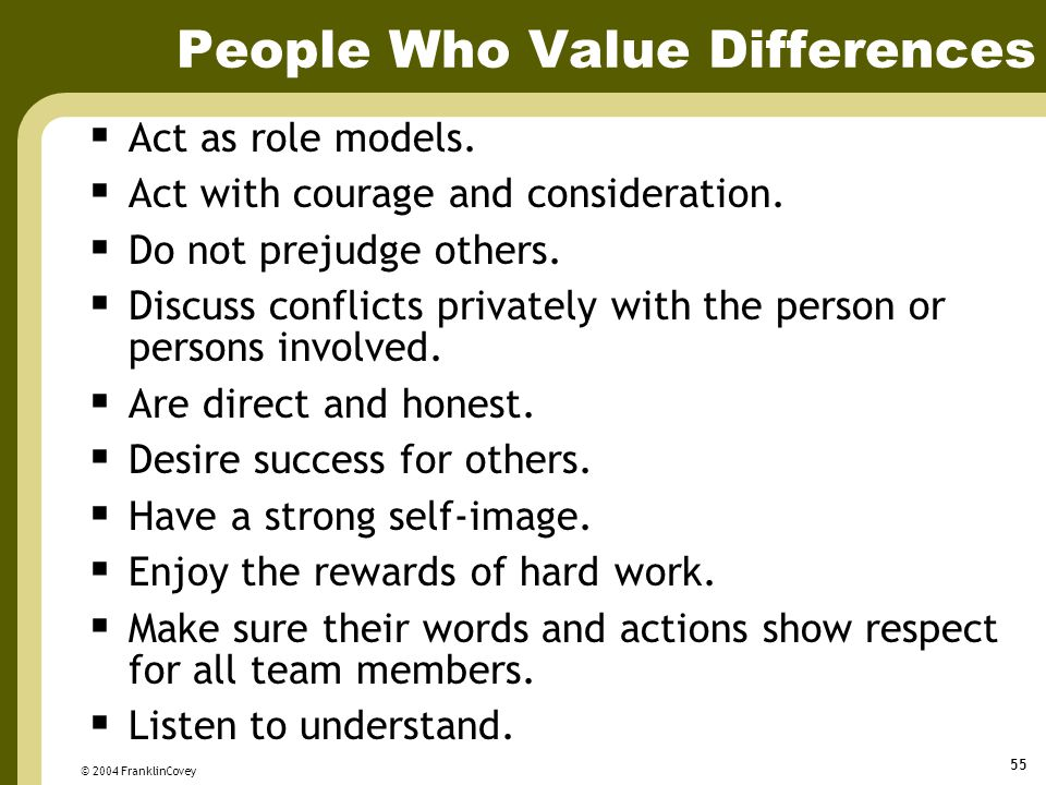 People Who Value Differences