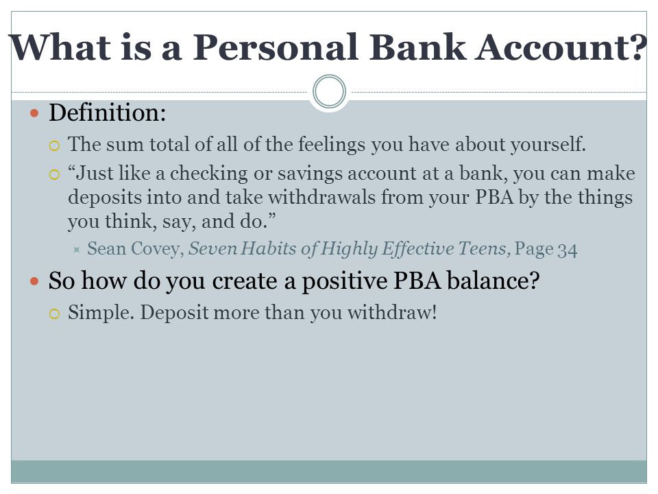 What is a Personal Bank Account