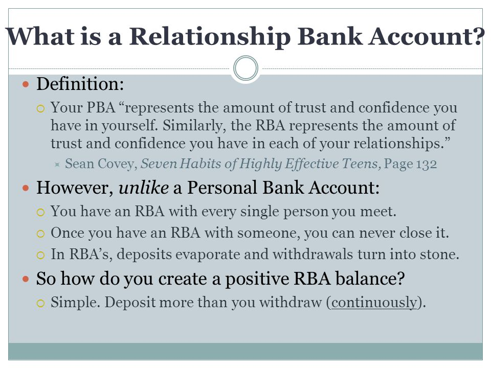What is a Relationship Bank Account