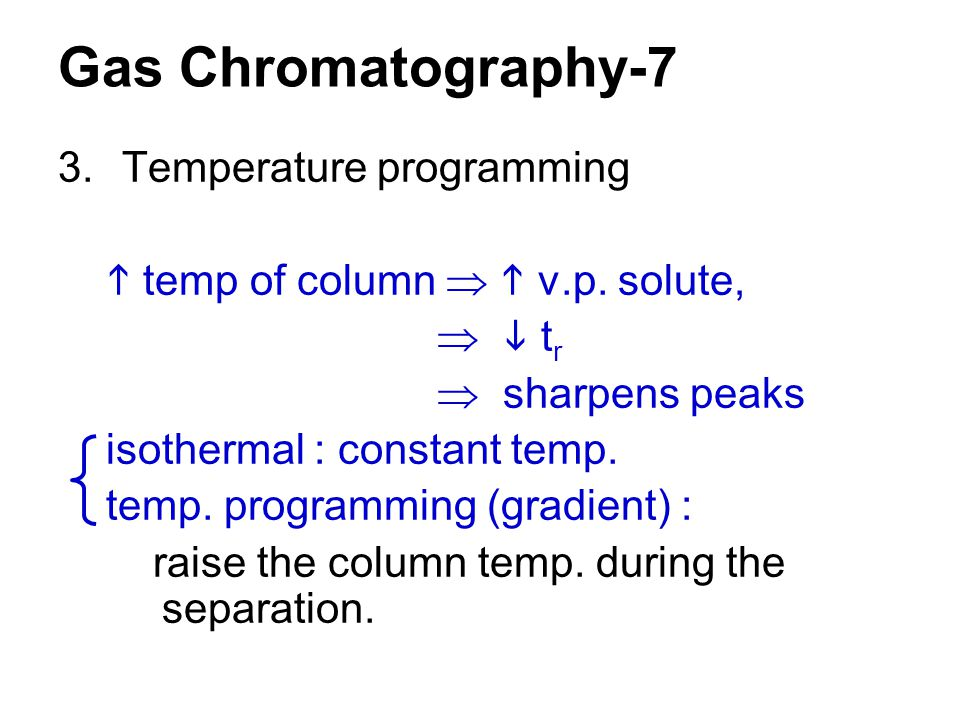 Gas Chromatography-7 Temperature programming