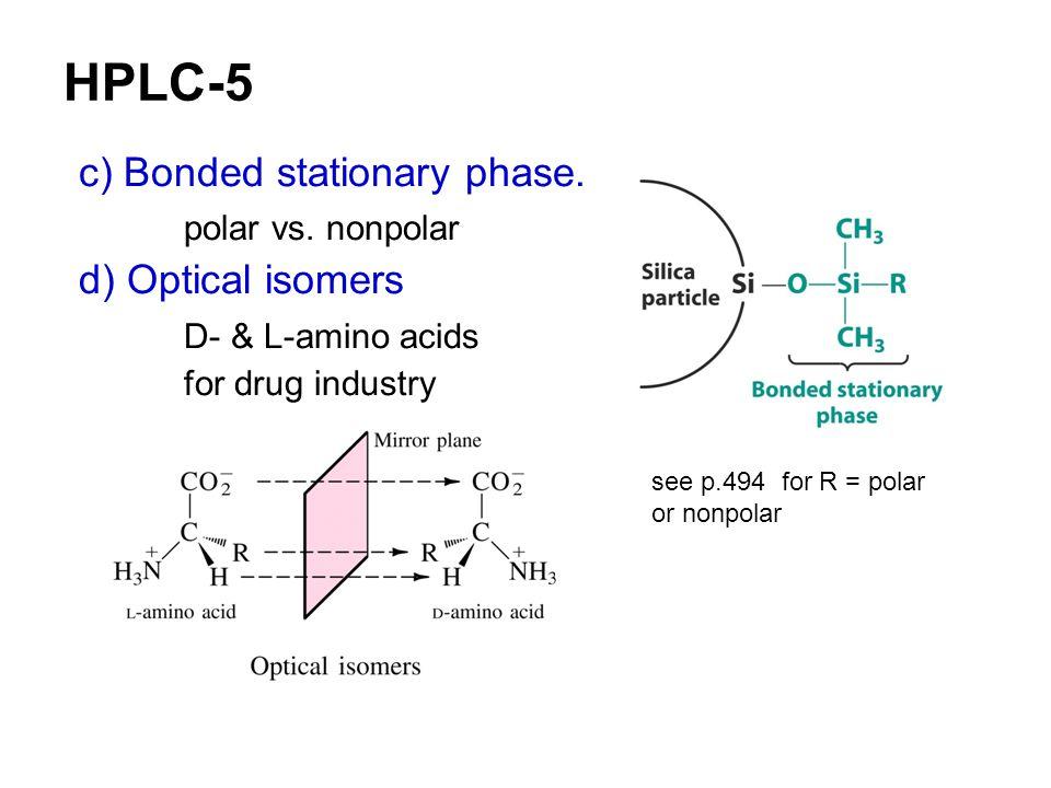 HPLC-5 c) Bonded stationary phase. polar vs. nonpolar