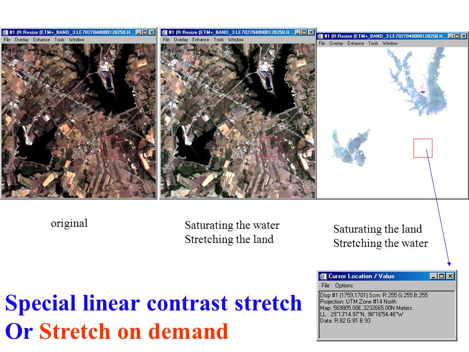Special linear contrast stretch Or Stretch on demand