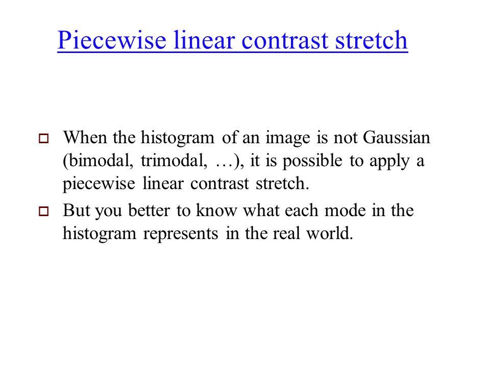 Piecewise linear contrast stretch
