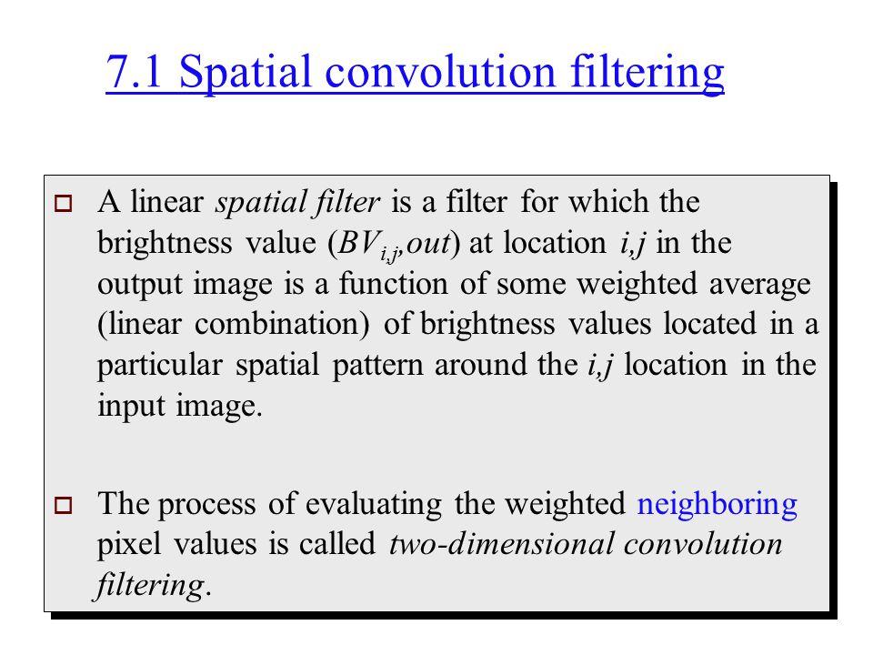 7.1 Spatial convolution filtering
