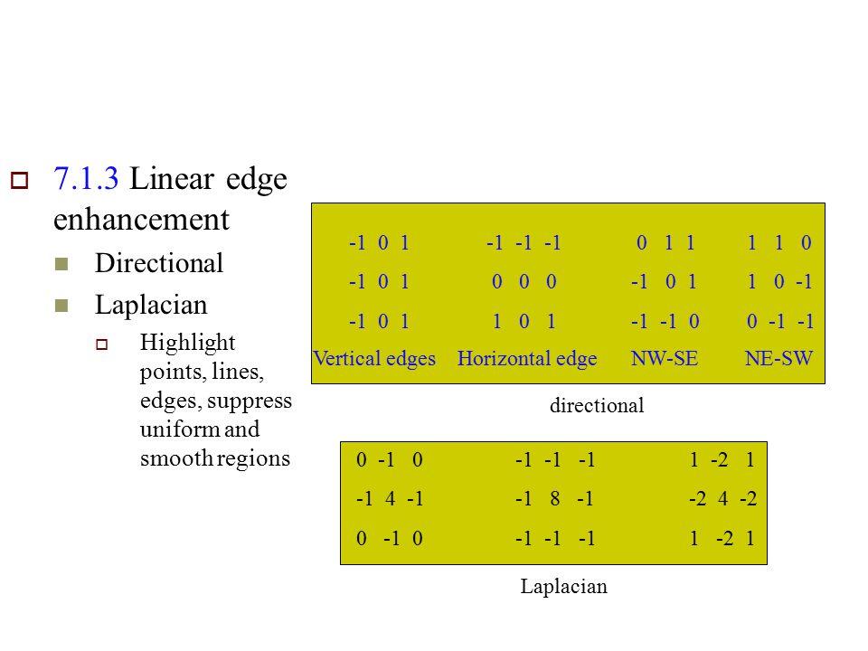 7.1.3 Linear edge enhancement