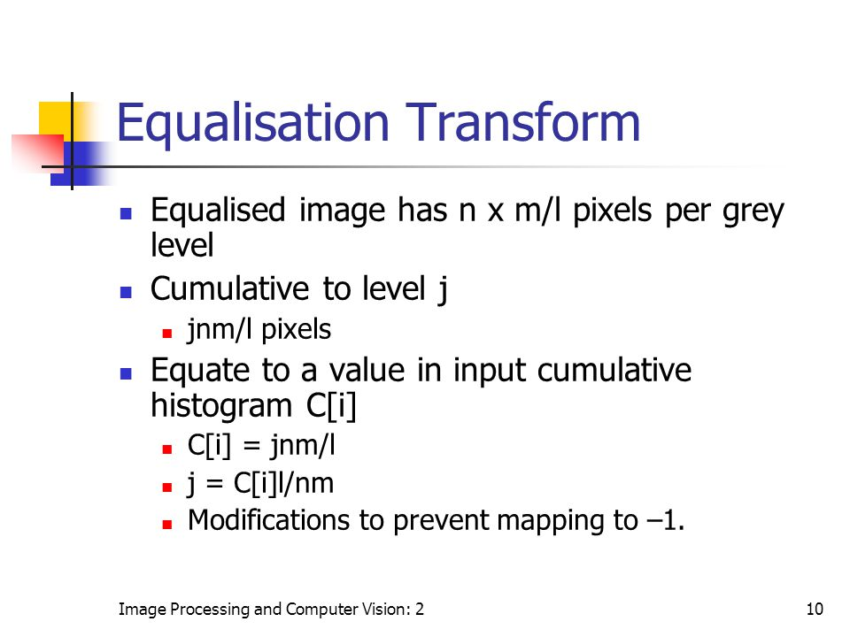 Equalisation Transform