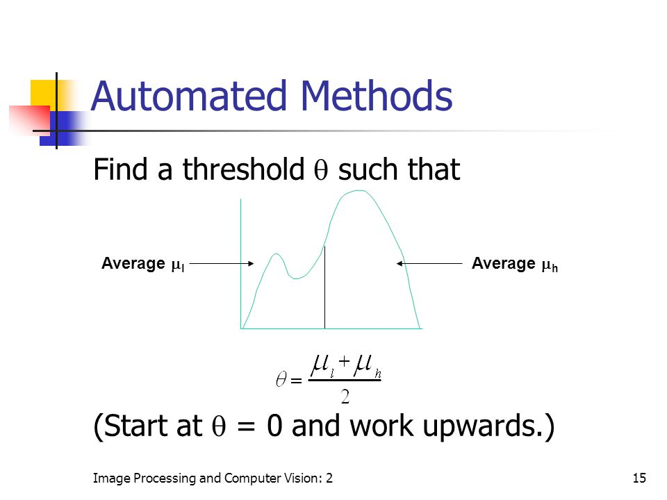 Automated Methods Find a threshold  such that