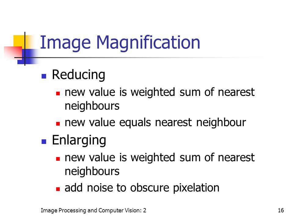 Image Magnification Reducing Enlarging