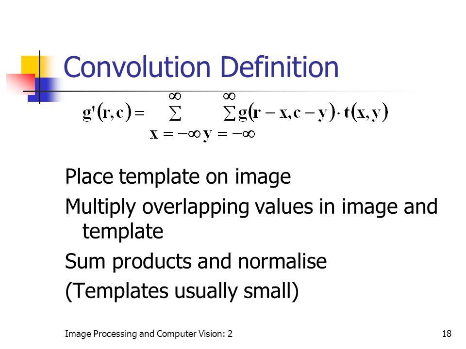 Convolution Definition