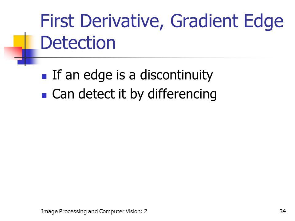 First Derivative, Gradient Edge Detection
