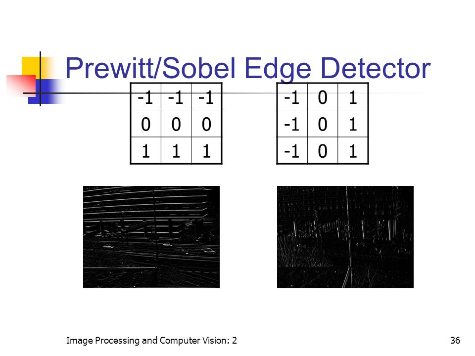 Prewitt/Sobel Edge Detector