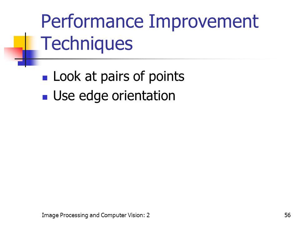 Performance Improvement Techniques