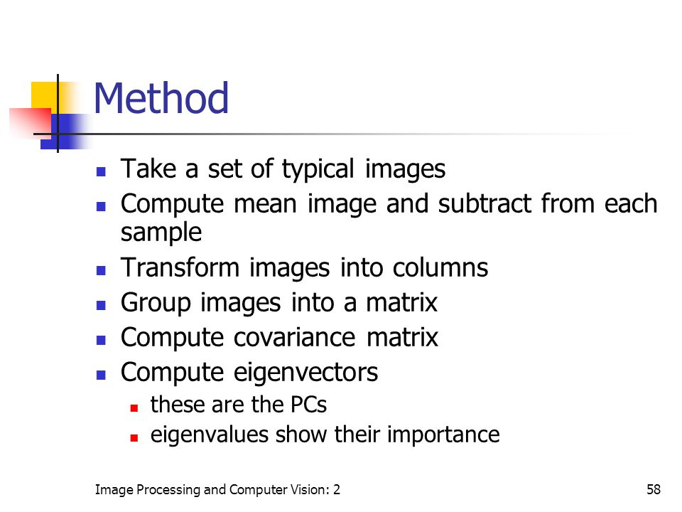 Method Take a set of typical images