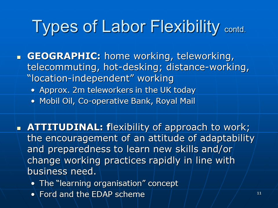 Types of Labor Flexibility contd.