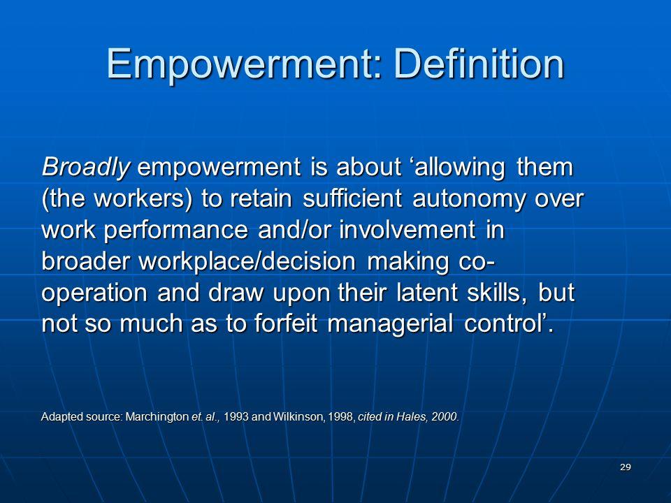 Beautiful 29 Empowerment: Definition
