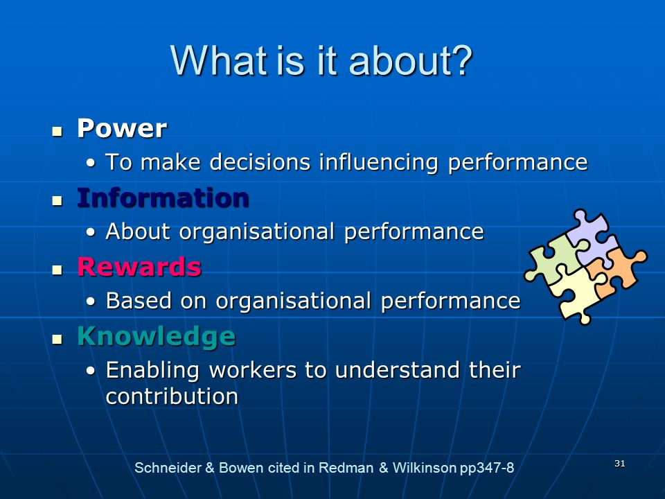 What is it about Power Information Rewards Knowledge