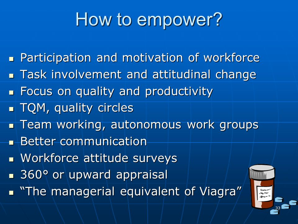How to empower Participation and motivation of workforce