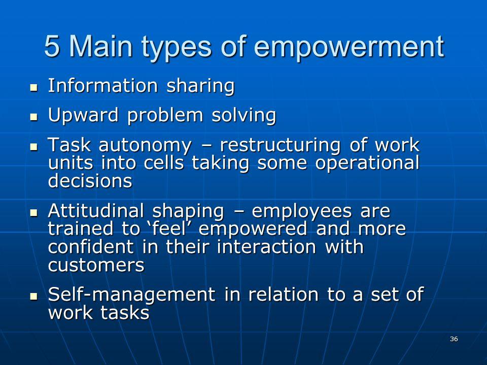 5 Main types of empowerment