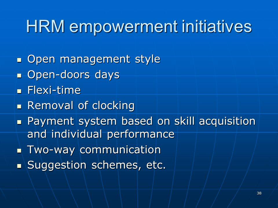 HRM empowerment initiatives