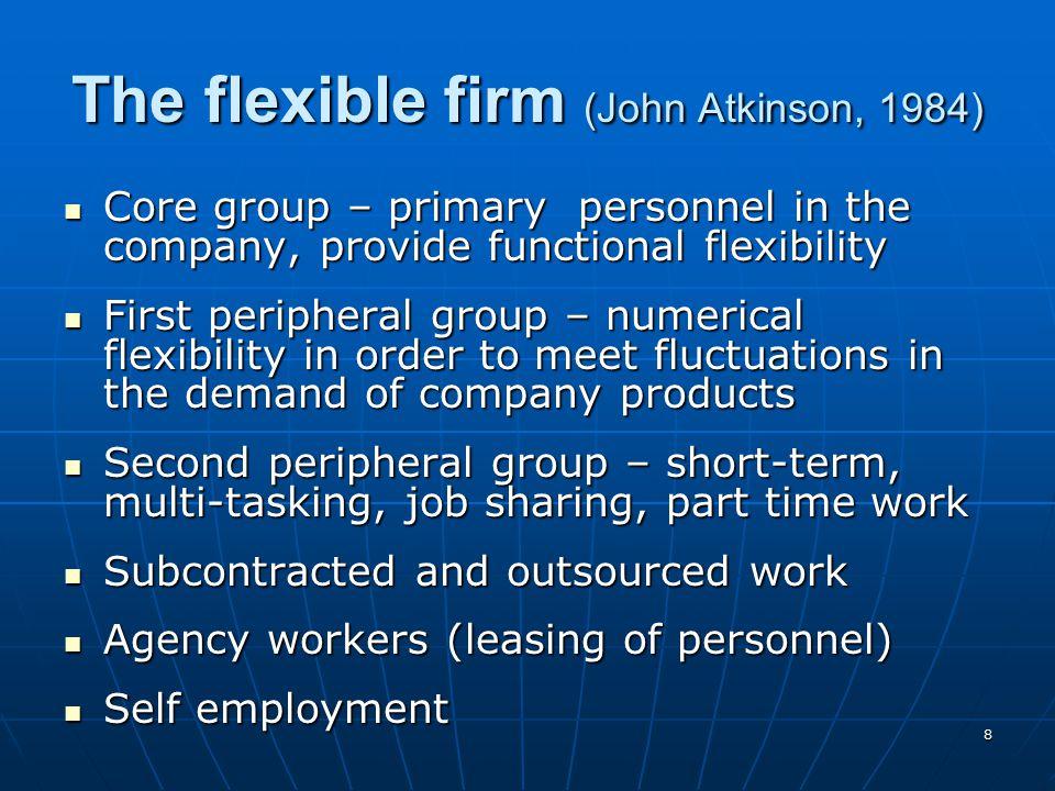 The flexible firm (John Atkinson, 1984)