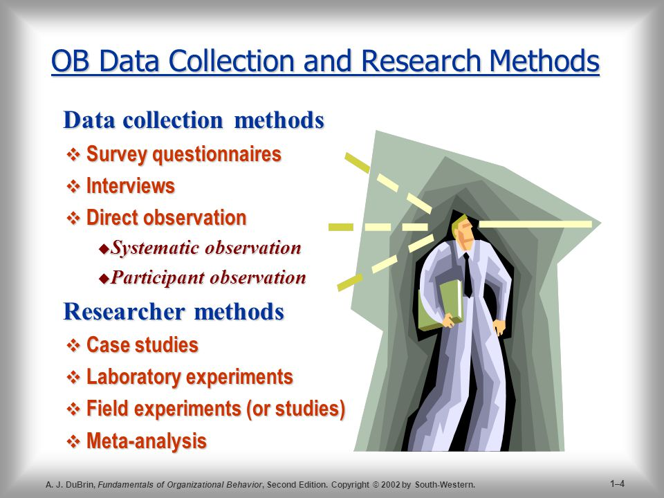 OB Data Collection and Research Methods