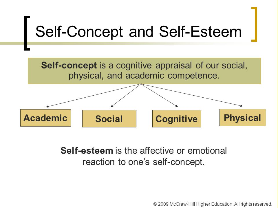 self concept self esteem and emotional intelligence Loneliness is also regarded as a risk factor in respect of a wide variety   between perceived emotional intelligence, self-esteem and life satisfaction in a  sample.