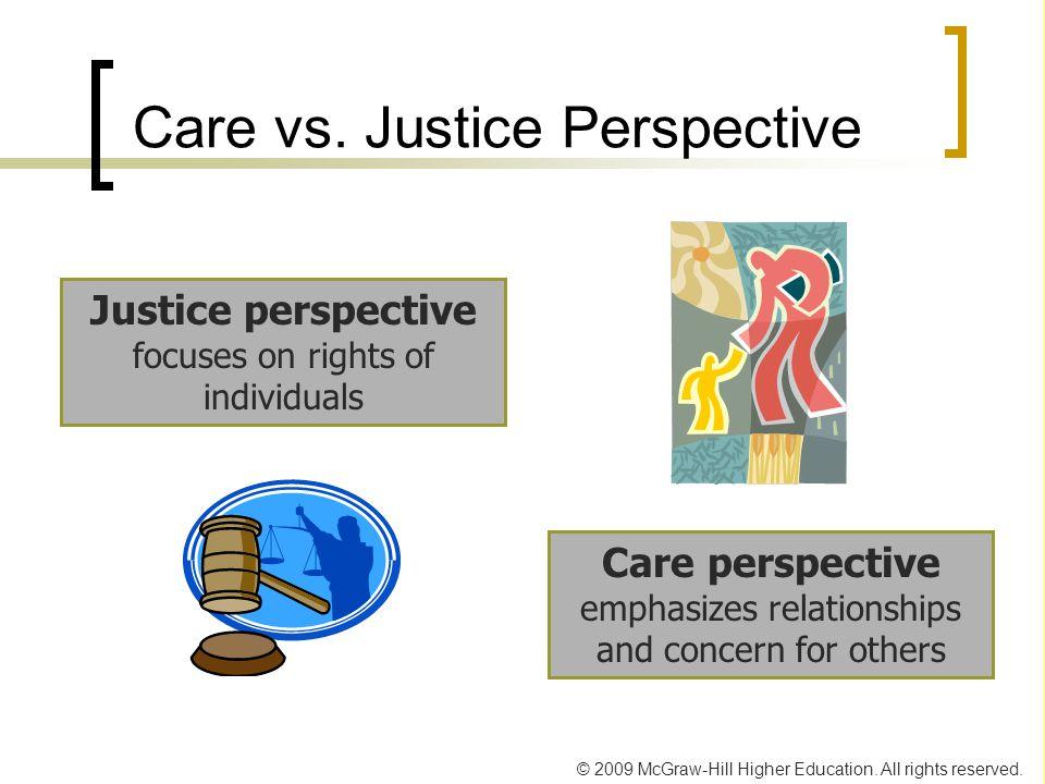 Care vs. Justice Perspective