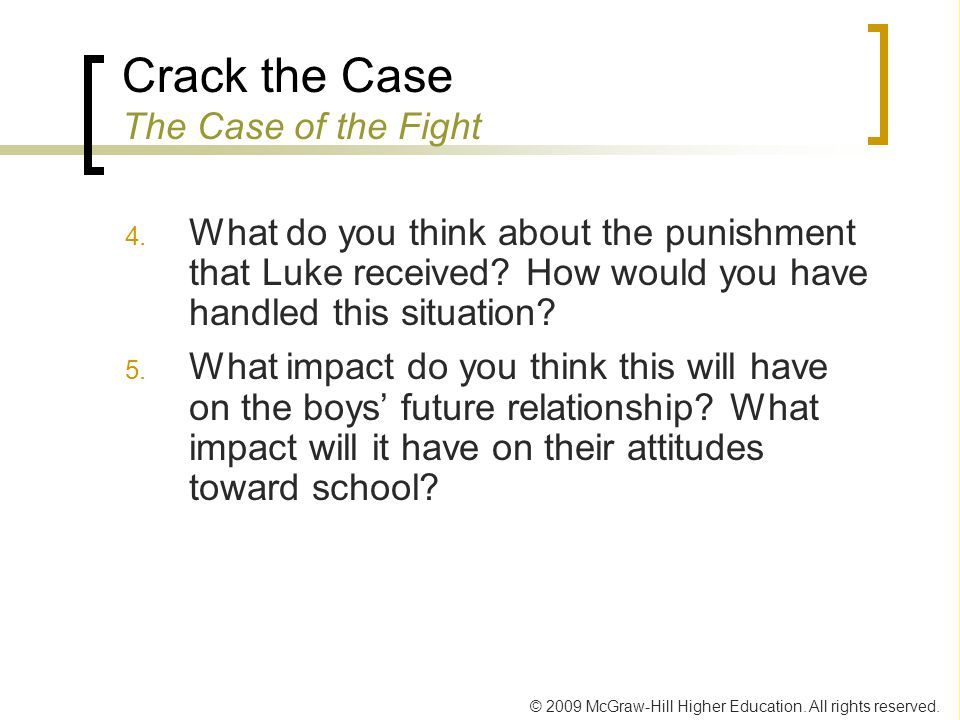 Crack the Case The Case of the Fight