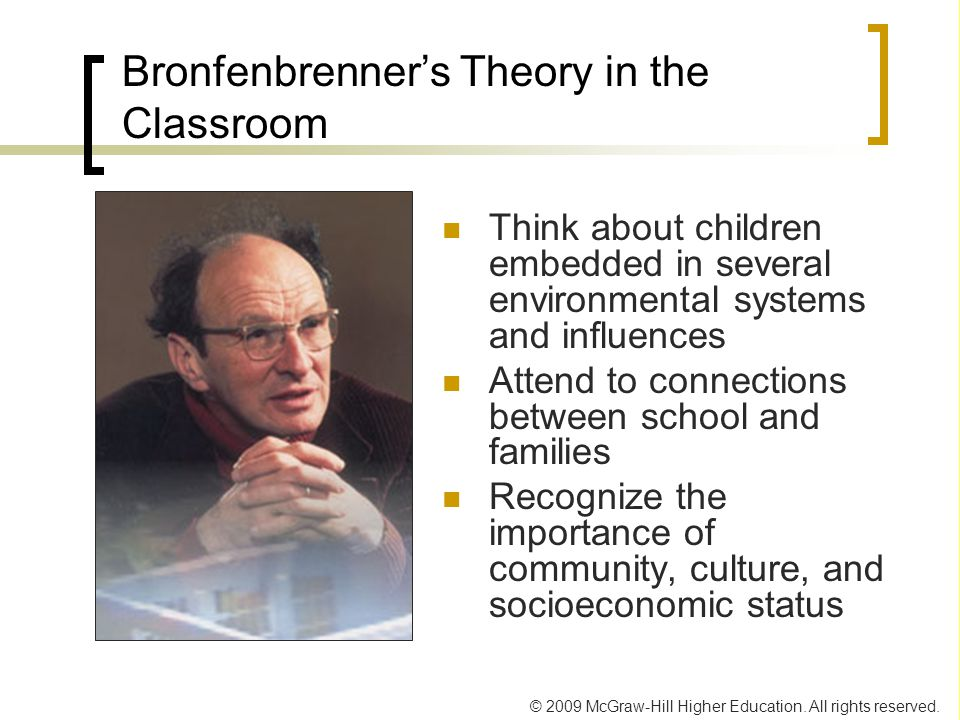 Bronfenbrenner's Theory in the Classroom
