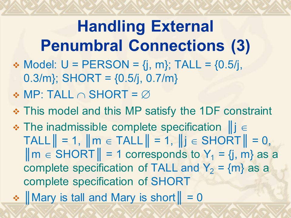 Handling External Penumbral Connections (3)