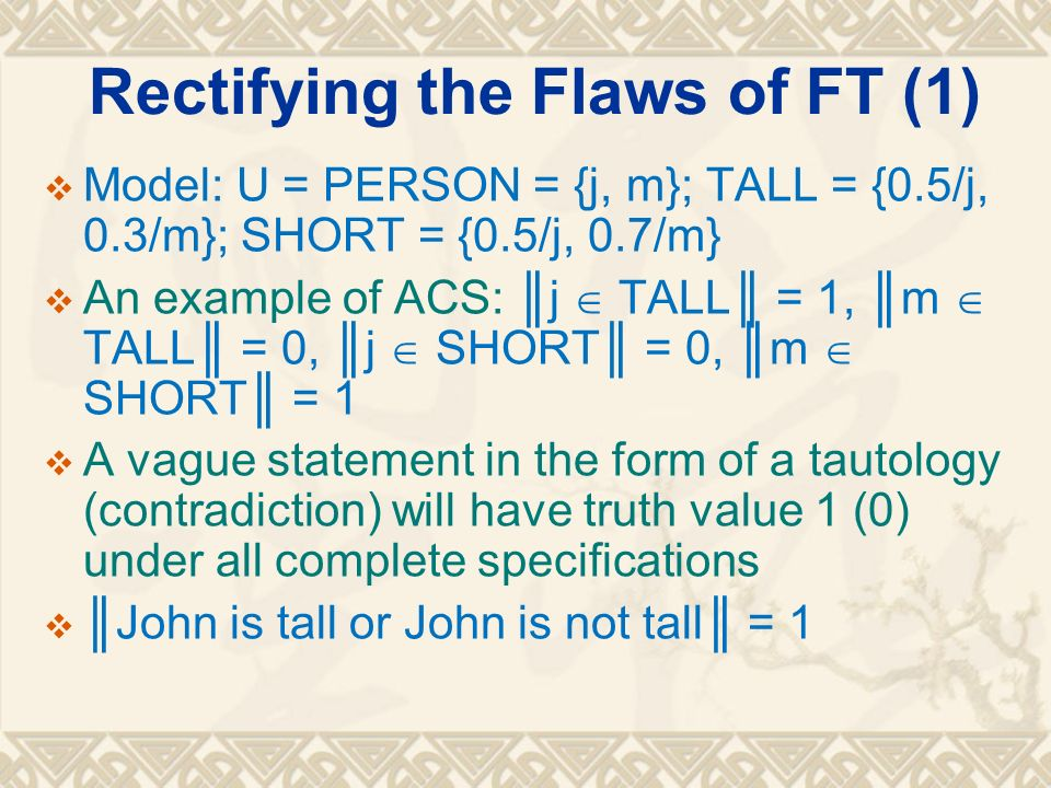 Rectifying the Flaws of FT (1)