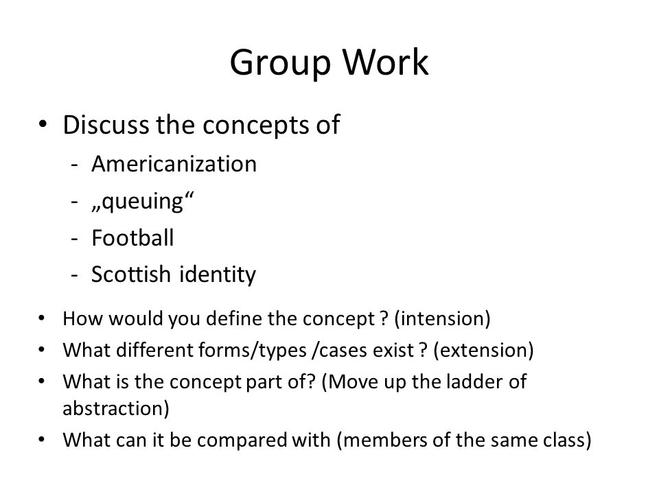 "Group Work Discuss the concepts of Americanization ""queuing Football"