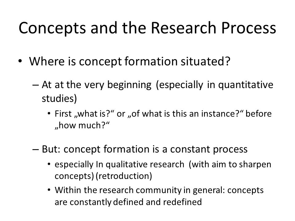 Concepts and the Research Process