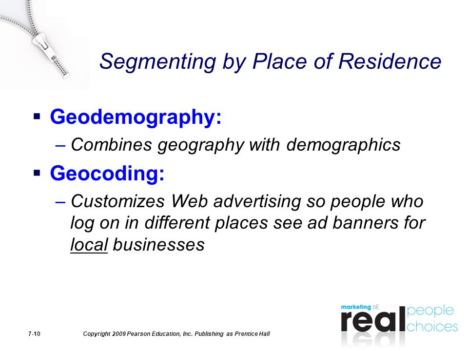 Segmenting by Place of Residence
