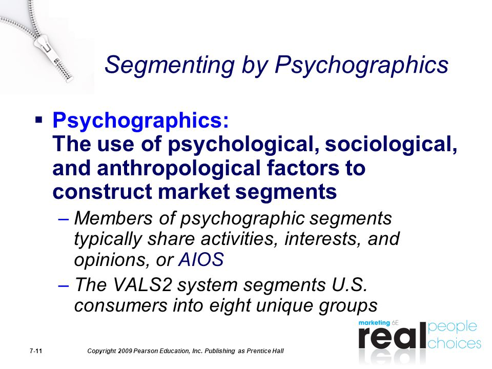 Segmenting by Psychographics